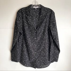 Frame Black with white Printed PJ Long Sleeve Sz S